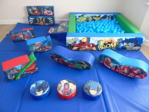 SILVER PACKAGE - SUPER HEROES WITH BALL POOL